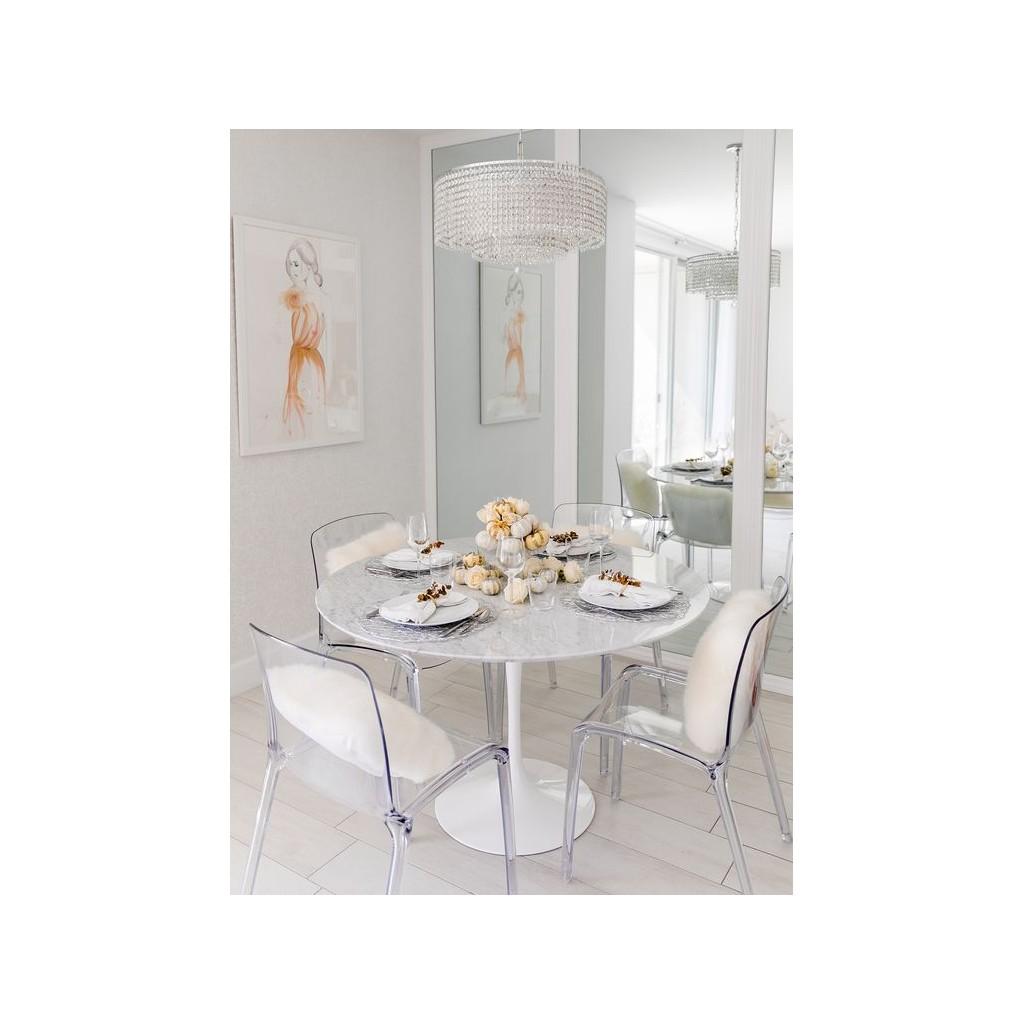 Tulip Marble Round Table Diiiz