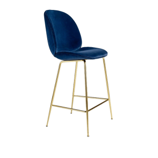 Beetle bar stool in Velvet - Gubi Inspiration