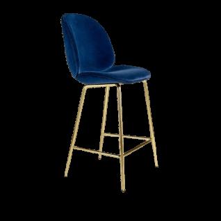 Beetle bar stool in Velvet - Gubi Inspiration