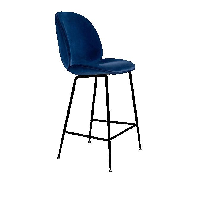 Beetle Velvet Bar Chair High Velvet Chair Inspired By Gubi