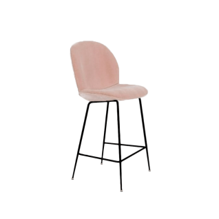 Chaise haute Beetle velours - Inspiration Gubi