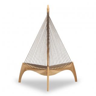 Chaise Lounge Harpe - Hêtre clair