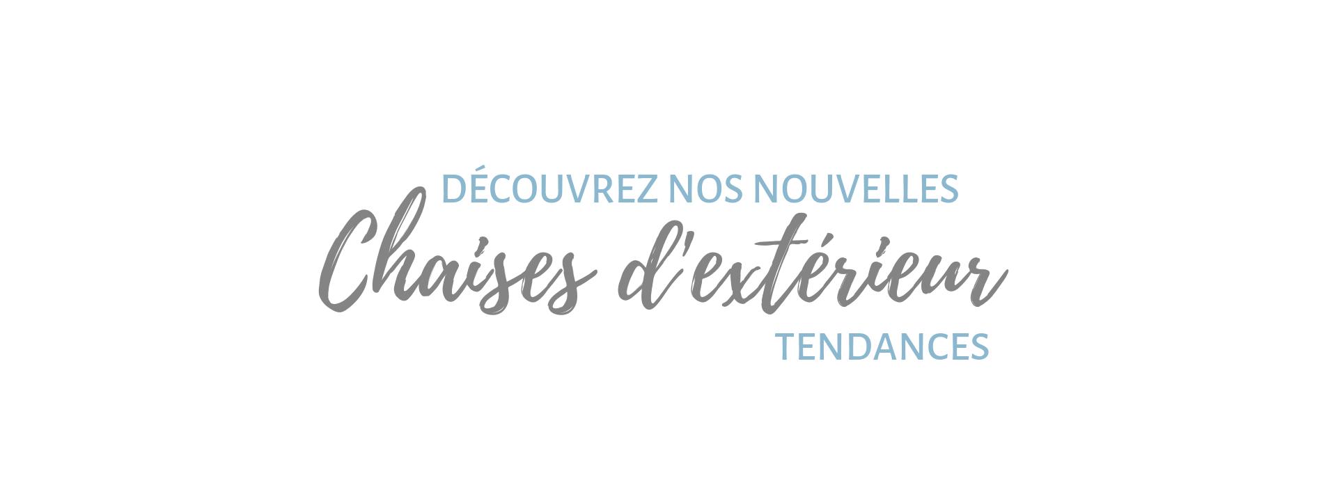 CHAISES D'EXTERIEUR - CHAISES DE JARDIN - DIIIZ