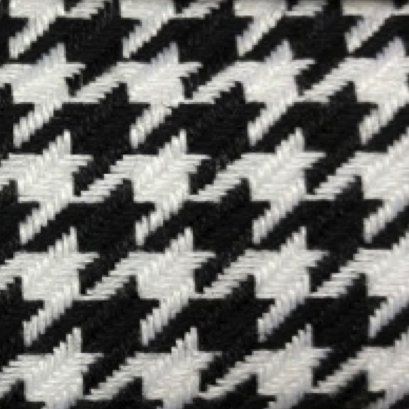 Tight B&W houndstooth